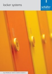 locker systems - Schäfer Trennwandsysteme
