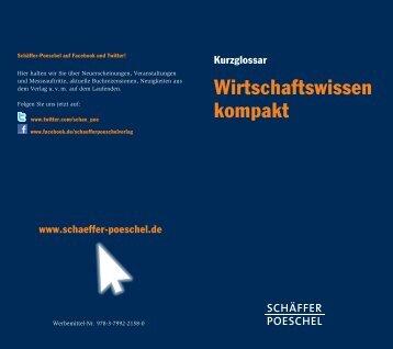 Wirtschaftswissen kompakt - Schäffer-Poeschel Verlag GmbH