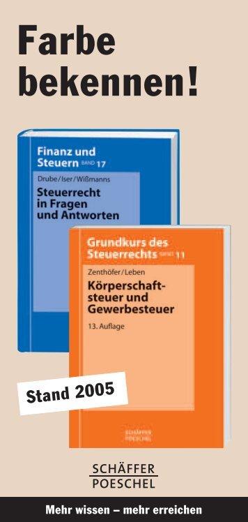 Farbe bekennen! - Schäffer-Poeschel Verlag GmbH