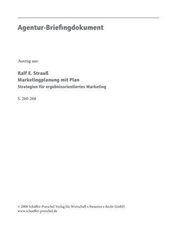 Agentur-Briefingdokument - Schäffer-Poeschel