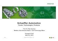 Schaeffler Automotive Trends / Technologies ... - Schaeffler Group