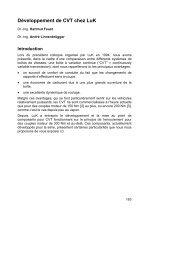 Développement de CVT chez LuK - Schaeffler Group