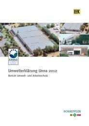 Umwelterklärung Unna 2012 Bericht Umwelt- und Arbeitsschutz