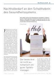 Nachholbedarf an den Schalthebeln des ... - Schaffler Verlag