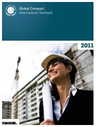 UN Global Compact International Yearbook 2011