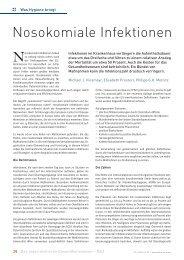 Nosokomiale Infektionen - Schaffler Verlag