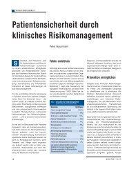 Patientensicherheit durch klinisches ... - Schaffler Verlag