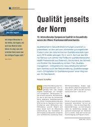 Qualität jenseits der Norm - Schaffler Verlag