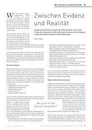 Zwischen Evidenz und Realität - Schaffler Verlag