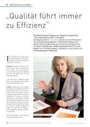 """""""Qualität führt immer zu Effizienz"""" - Schaffler Verlag"""