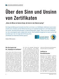 Über den Sinn und Unsinn von Zertifikaten - Schaffler Verlag