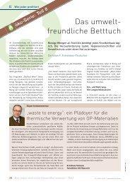 Das umwelt- freundliche Betttuch - Schaffler Verlag