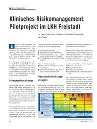 Klinisches Risikomanagement: Pilotprojekt im ... - Schaffler Verlag
