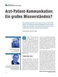 Arzt-Patient-Kommunikation: Ein großes ... - Schaffler Verlag