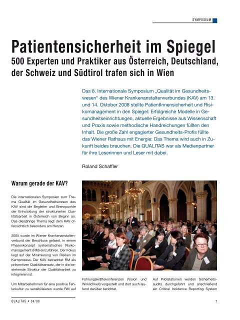 Patientensicherheit im Spiegel - Schaffler Verlag