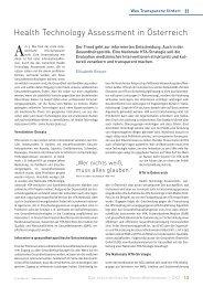 HTA-Bericht - Schaffler Verlag