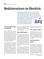 Medizinerwissen im Überblick - Schaffler Verlag