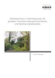 Einfamilienhaus in Grenzbauweise mit genialem Terrassen ...