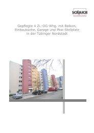 Gepflegte 4 Zi.-OG-Whg. mit Balkon, Einbauküche, Garage und Pkw ...