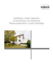 Gepflegtes, massiv gebautes 3-Familienhaus mit attraktiver ...