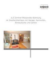 6,5-Zimmer-Maisonette-Wohnung im Zweifamilienhaus mit Garage ...