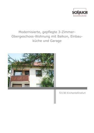 Modernisierte, gepflegte 3-Zimmer - Schaich-immobilien.de