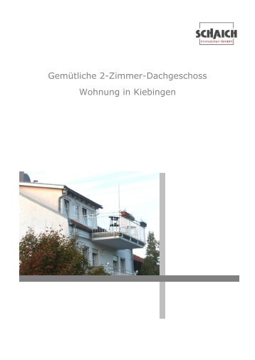 Gemütliche 2-Zimmer-Dachgeschoss Wohnung in Kiebingen
