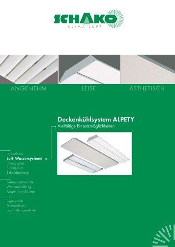 Deckenkühlsystem ALPETY - Schako