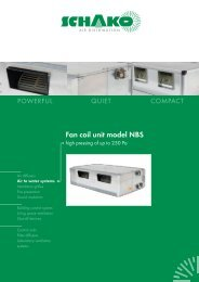 Fan coil unit model NBS - Schako
