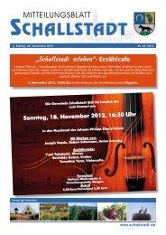 Sonntag, 18. November 20 12, 16:30 Uhr - Gemeinde.Schallstadt