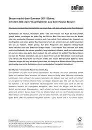 Braun Silk-épil 7 Dual Epilierer Pressemitteilung