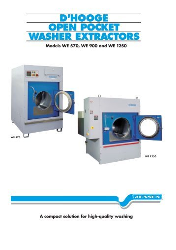 Open Pocket Washer Extractor ~ Dependable performance