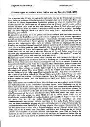 Lebensbericht, von Tochter Angelika van der Borght verfasst und ...