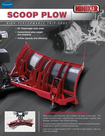 Scoop plow