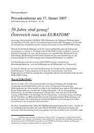 Hintergrundpapier Euratom - Plage