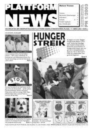 Plattform News 2003-01 - Plage