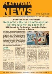 Plattform News 2006-01 - Plage