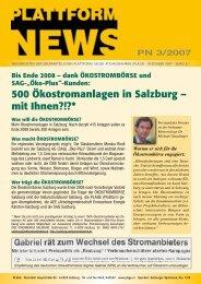 Plattform-News 03/2007 - Plage