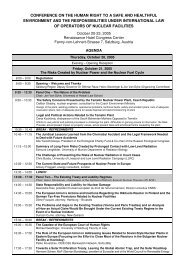 conference on the human right to a safe and healthful ... - Plage