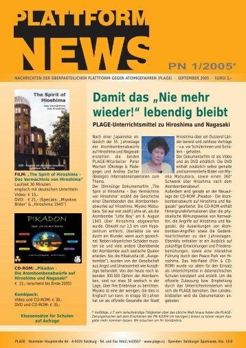 Plattform News 2005-01 - Plage