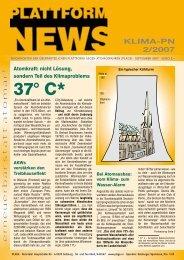 Plattform-News 02/2007 - Plage