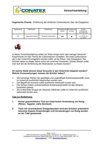 Versuchsanleitung - Conatex-Didactic Lehrmittel GmbH