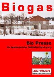 Bio Presso - Schauer Agrotronic GmbH