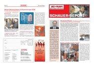 SCHAUER-REPORT - Schauer Agrotronic GmbH