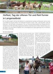 Hoffest, Tag der offenen Tür und Reit-Turnier in Langenselbold