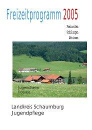 Landkreis Schaumburg Jugendpflege Jugendheim Frossee