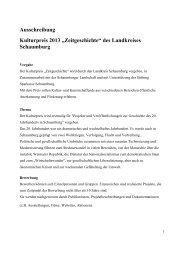Ausschreibung Kulturpreis 2013 - Landkreis Schaumburg