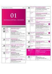 14 19:30 – 21:00 Uhr - Schauspiel Essen