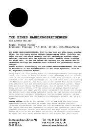 Tod eines Handlungsreisenden - Schauspielhaus Zürich