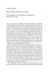 Günter Altner Die verlorene Einheit der Natur - Scheidewege